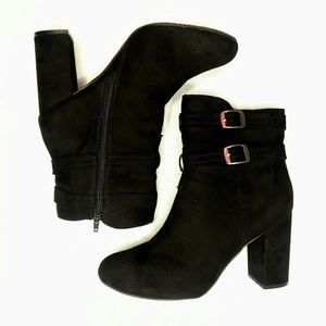 Christian Siriano 4 Inch Heels Boots Suede Black